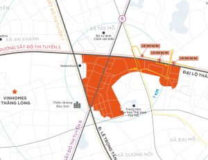 Vị trí dự án Vinhomes Smart City thuận lợi cho việc di chuyển
